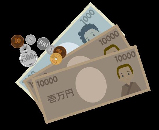 お札と硬貨のイラスト