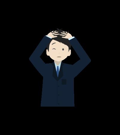 頭を抱えるビジネスマンのイラスト2