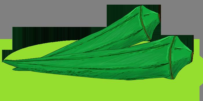 オクラの挿絵イラスト(横向き)