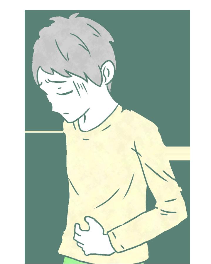 お腹の痛い人のイラスト(子供)
