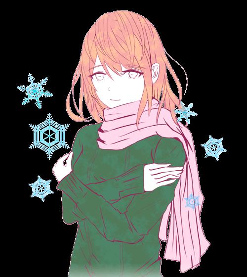 凍える女の子のフリーイラスト