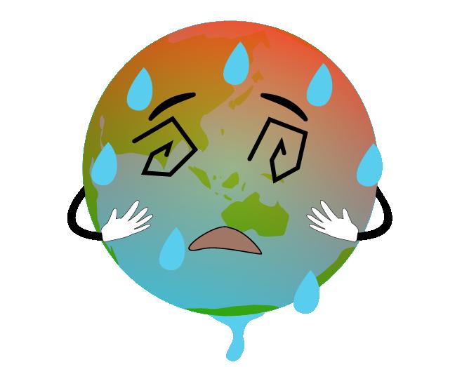 地球温暖化のイラスト