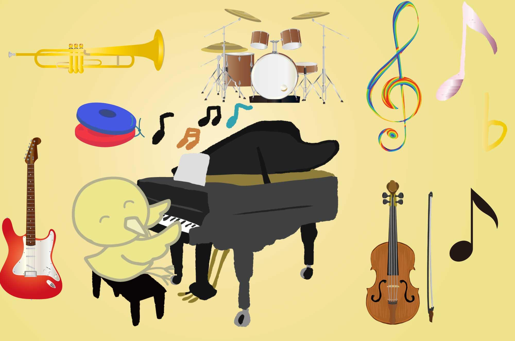 音楽の無料イラスト - 音符や楽器のフリー素材集