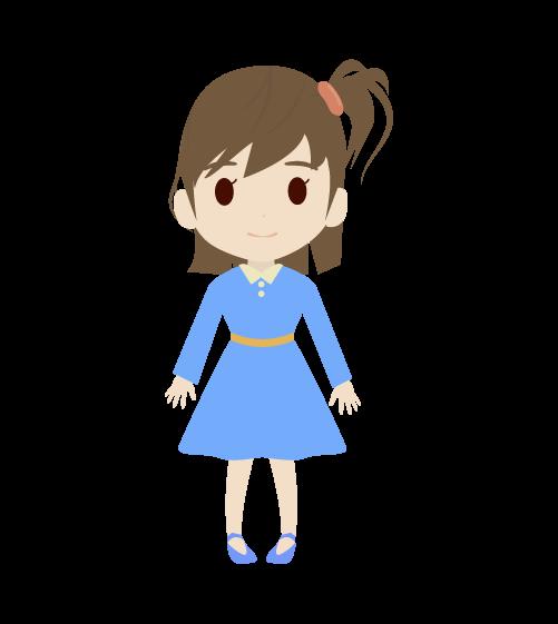 女の子(正面)のイラスト