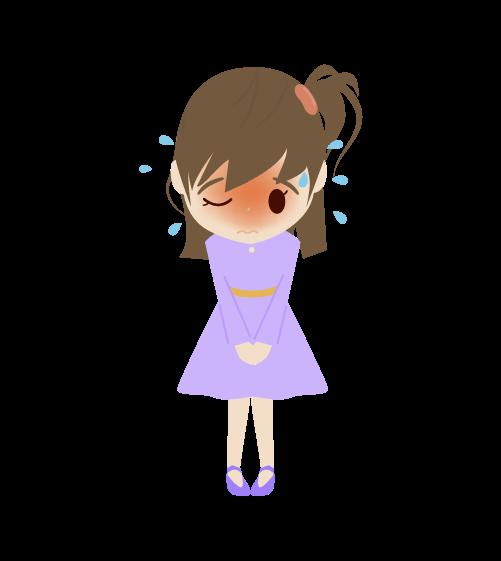 焦る女の子のイラスト2
