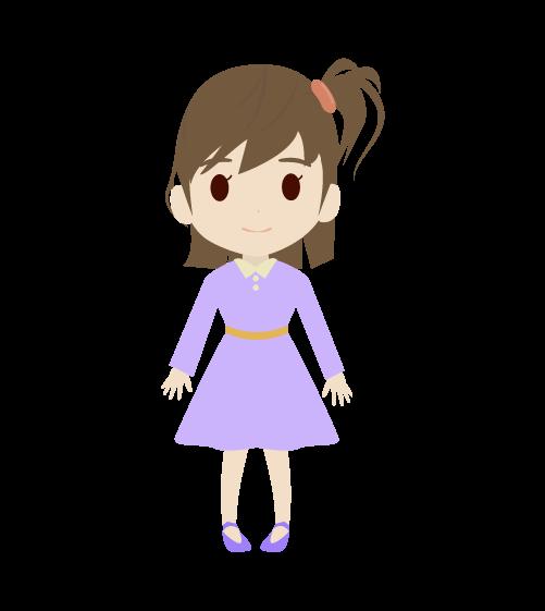 女の子(正面)のイラスト2