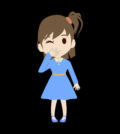 笑う女の子のイラスト