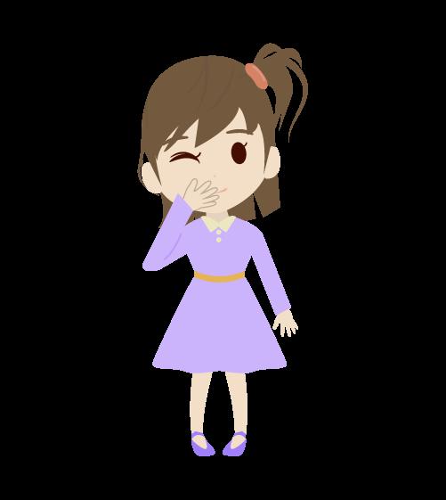 笑う女の子のイラスト2