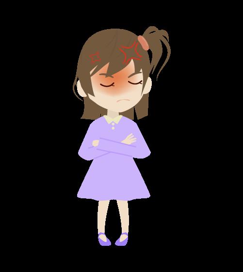 怒る女の子のイラスト2