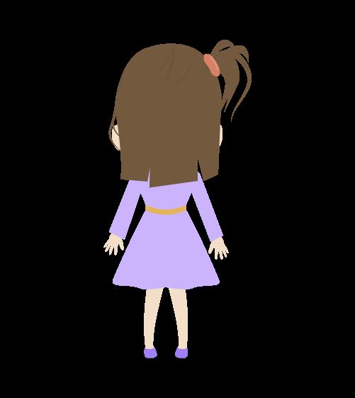 女の子(後ろ姿)のイラスト2