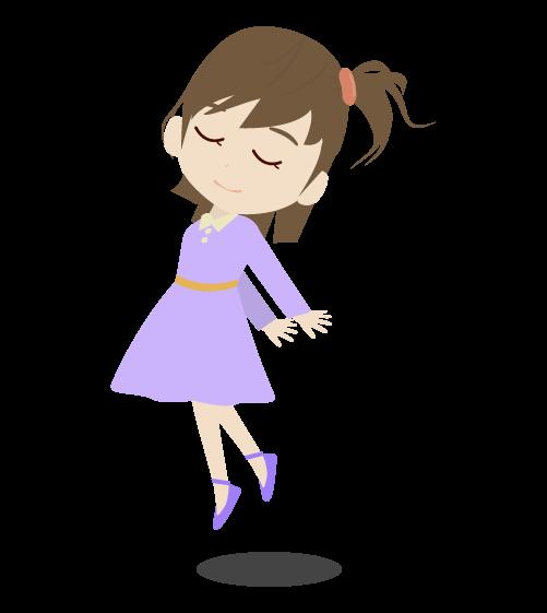 浮く女の子のイラスト