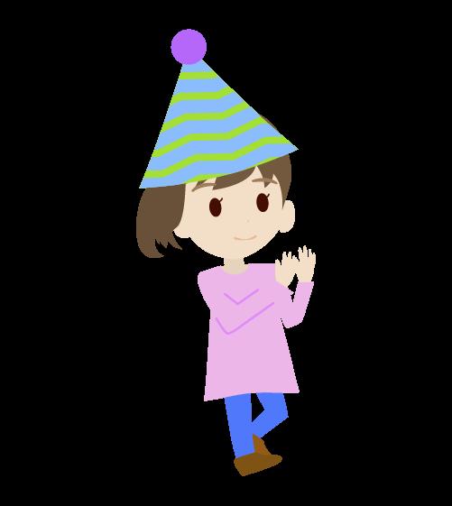 パーティーの女の子のイラスト