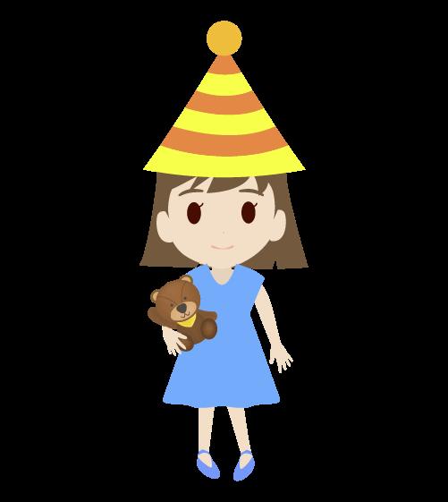 パーティーの女の子のイラスト2