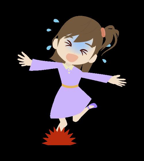 転ぶ女の子のイラスト