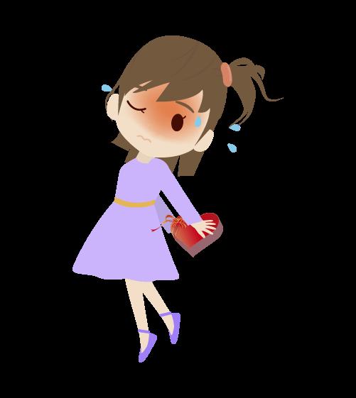 恥ずかしがる女の子のイラスト