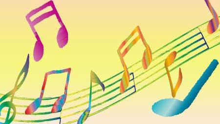 可愛い手描きの音符イラスト - フリーのメロディーライン