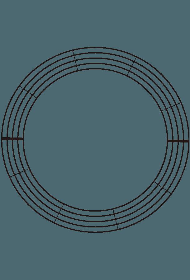 円状の五線のイラスト