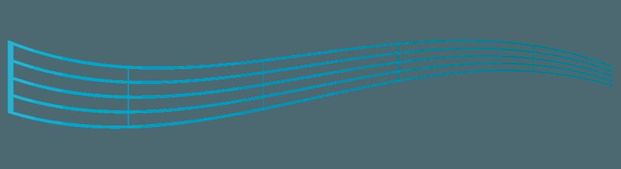歪んだ五線のイラスト
