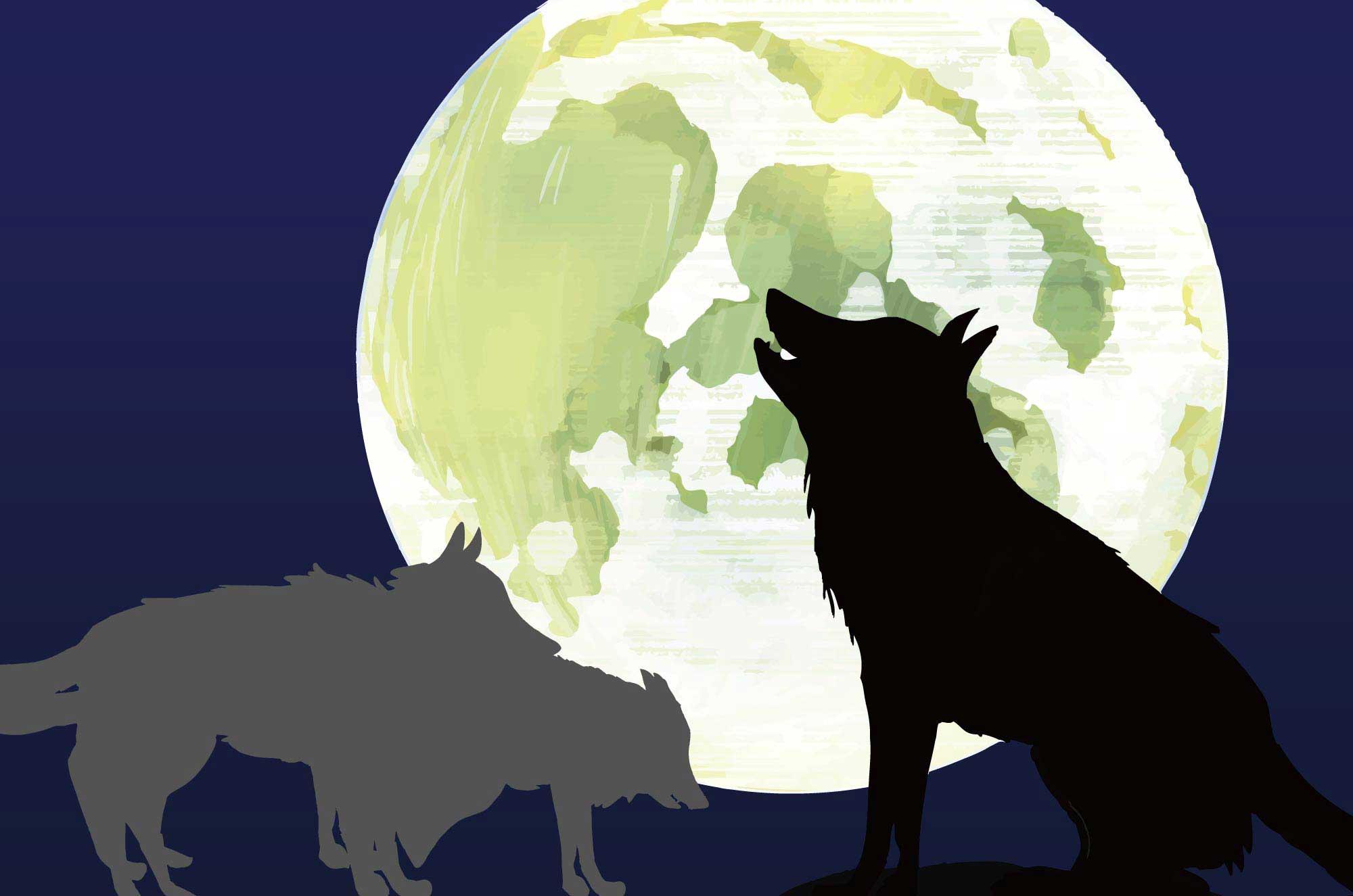 狼のイラスト - かっこいい・可愛い獣の無料素材