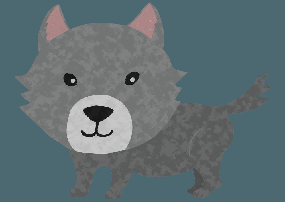 可愛い狼のイラスト