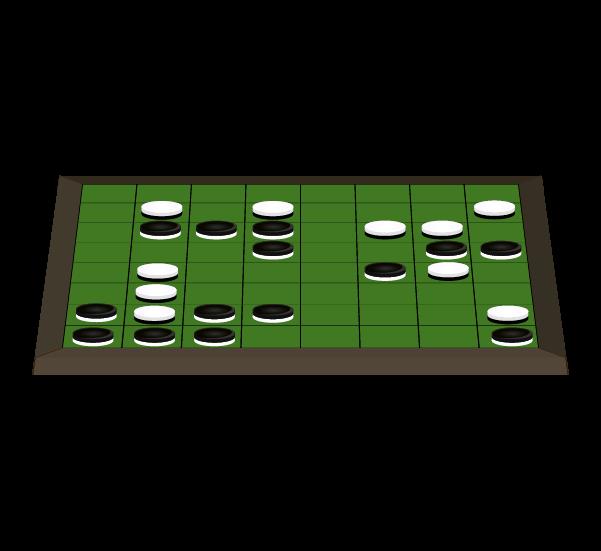 オセロ盤横(コマあり)のイラスト