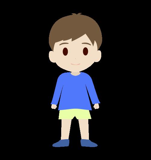 男の子(正面)のイラスト