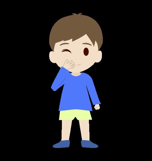 笑う男の子のイラスト