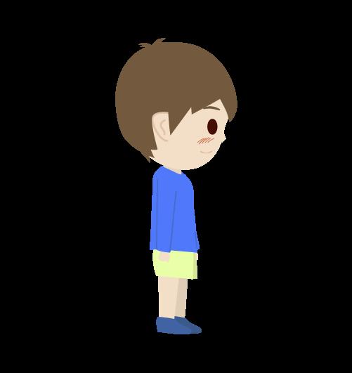 照れる男の子のイラスト