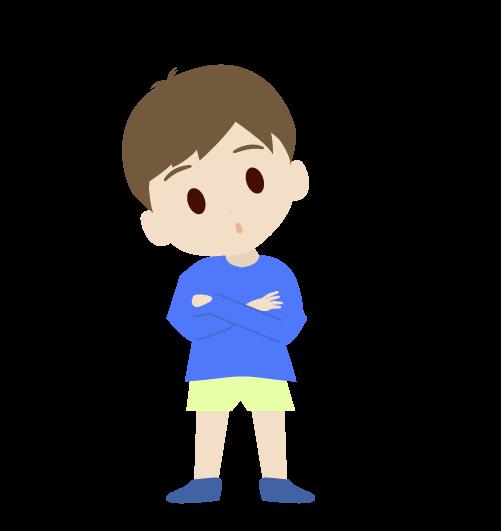 はてなマークの男の子のイラスト