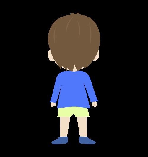 男の子(後ろ姿)のイラスト