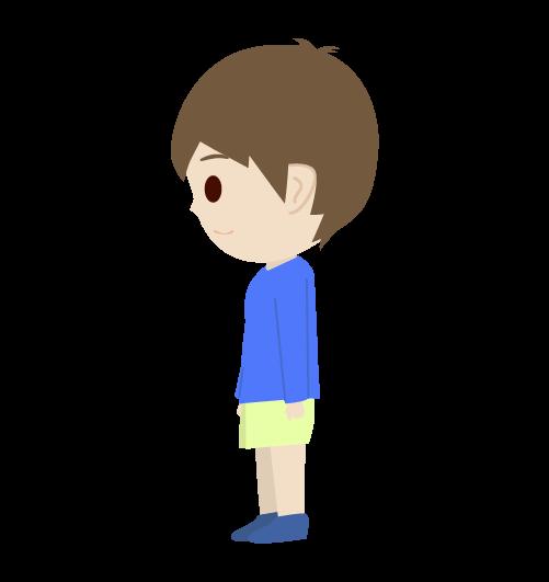 男の子(横)のイラスト