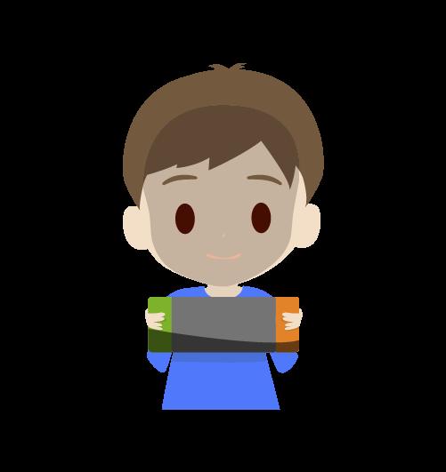 ゲームに集中する男の子のイラスト2