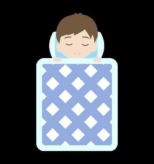 寝る男の子のイラスト