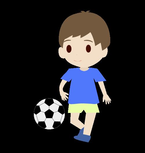 サッカーをする男の子のイラスト