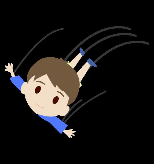 飛ぶ男の子のイラスト2