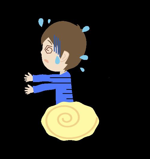 逃げる男の子のイラスト