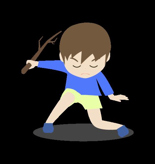 中二病の男の子のイラスト