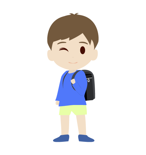 ランドセルを背負う男の子のイラスト