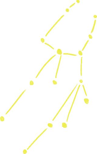 乙女座のラフな星図イラスト