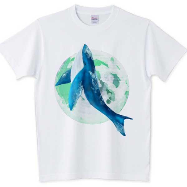 月とくじらの夢Tシャツ