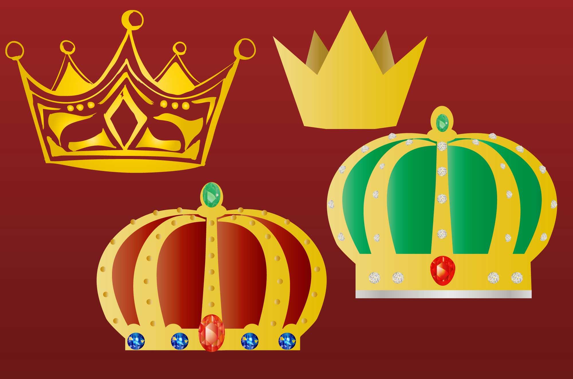 王冠のイラスト - 可愛いくてゴージャスなフリー素材