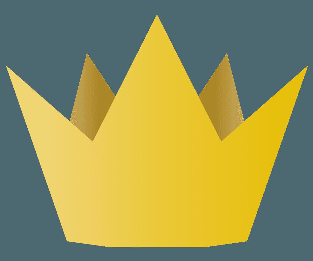 シンプルな王冠のアイコンのイラスト