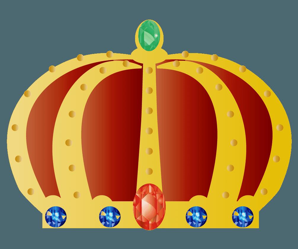 宝石を散りばめた王冠のイラスト