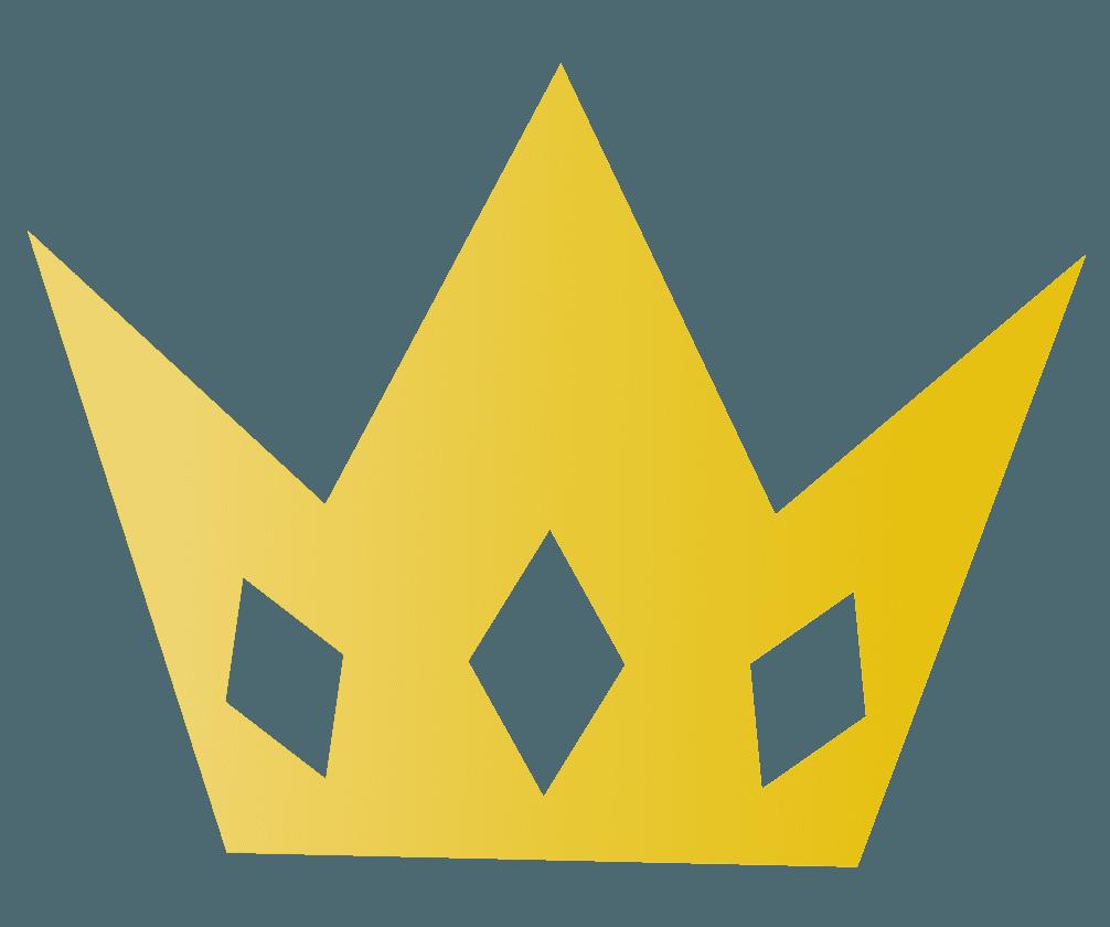 鋭く尖った王冠のイラスト