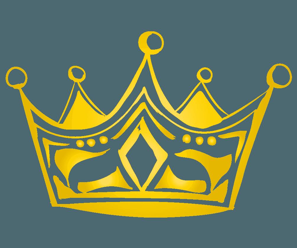 リッチな手描きの王冠マークのイラスト