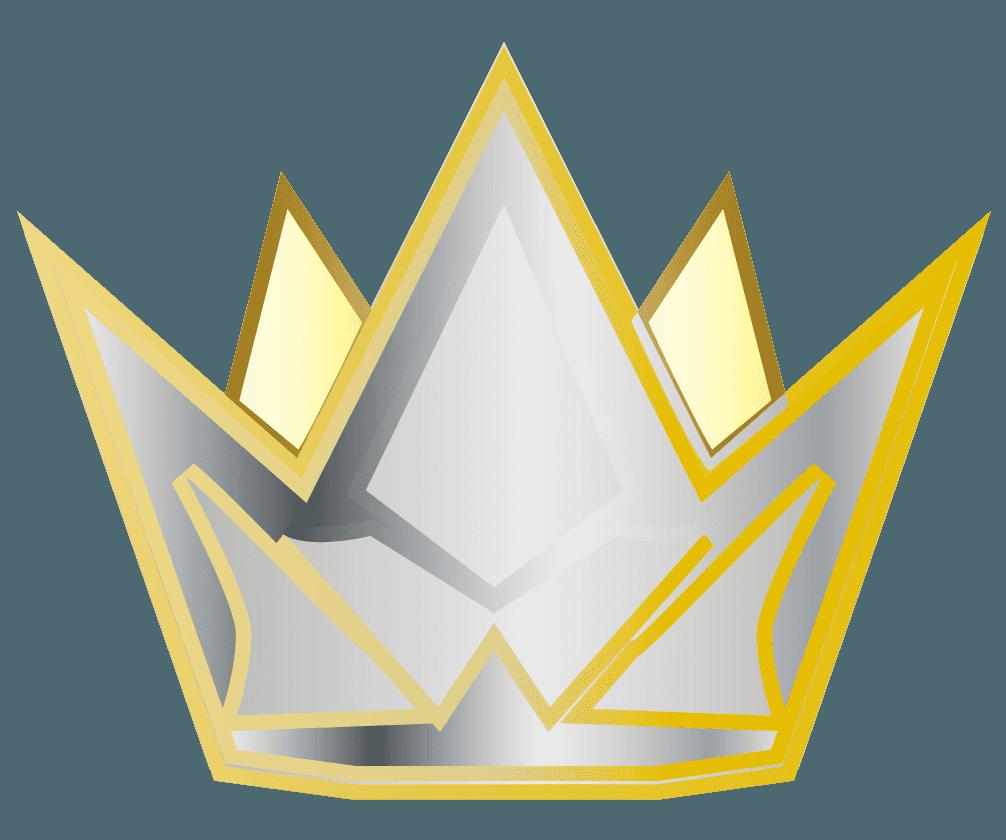 シルバー王冠のイラスト