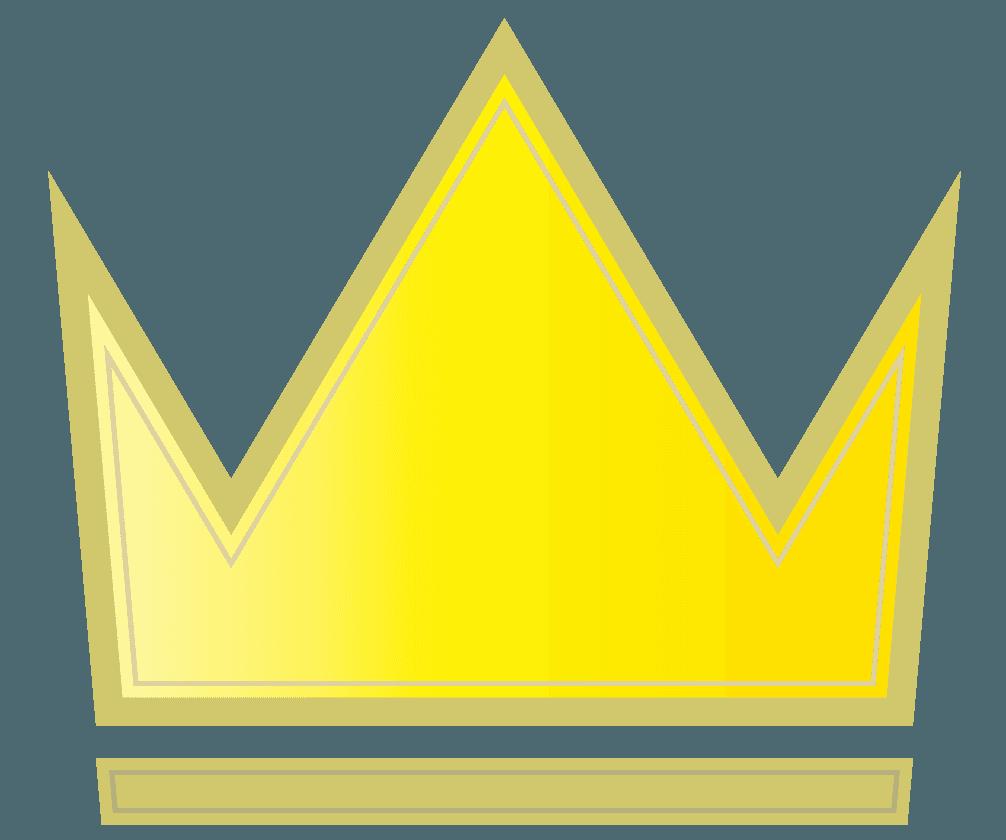 シンプルな王冠のロゴのイラスト