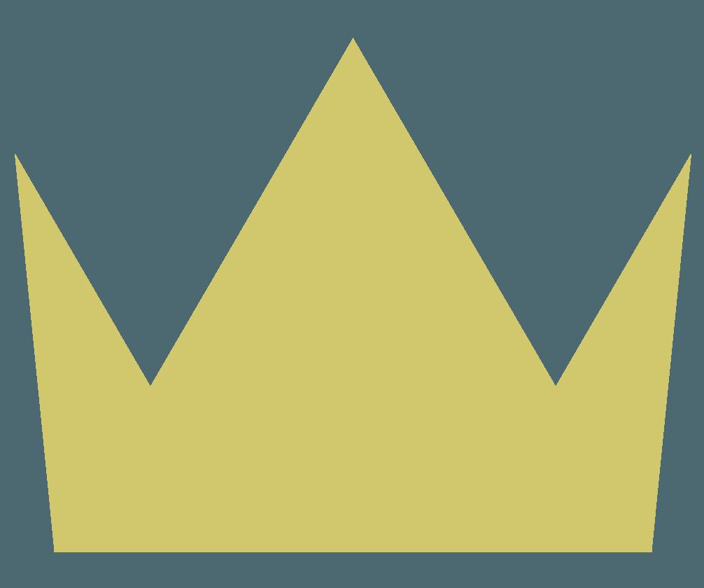 シンプルな王冠マークのイラスト