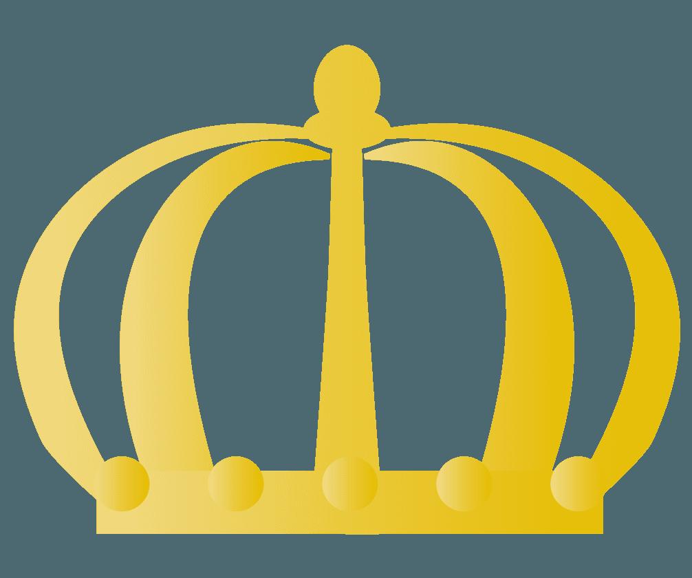 王冠のシンプルアイコンのイラスト
