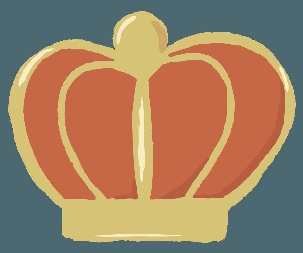 手描きの王冠のイラスト